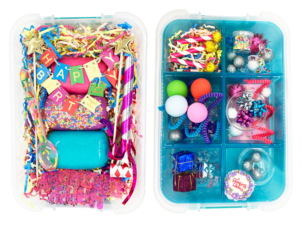 The Birthday in a Box Kit   Pink/Purple/Blue