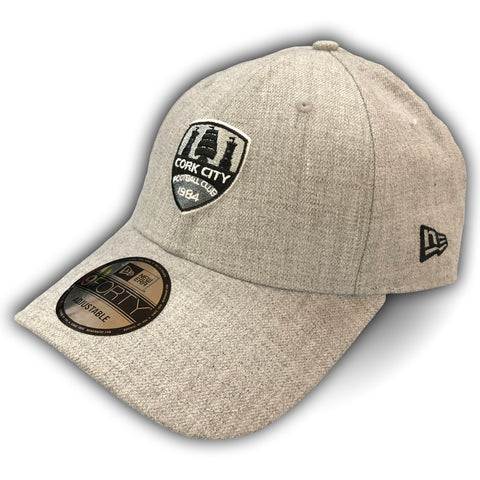 New Era x Cork City Heather Grey '9Forty' Cap