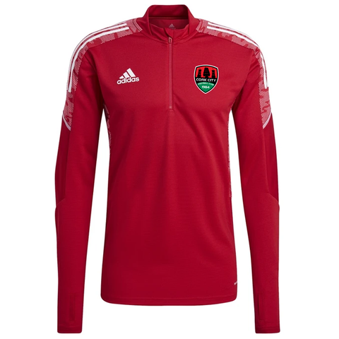 Adidas Condivo 21 Red 1/4 Zip Training Top
