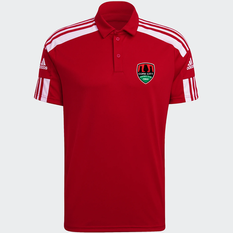 Red Adidas Squad 21 Polo