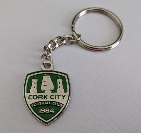 Green & Silver Crest Key-ring