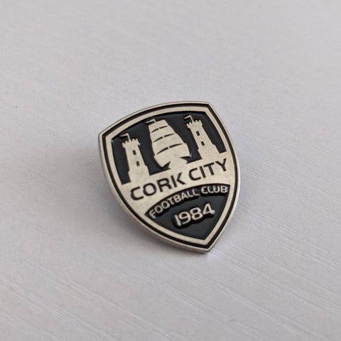 Black & Silver Crest Pin-badge