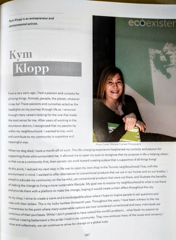 The page of the book which features Kym. Please visit the blog post page for full image description.