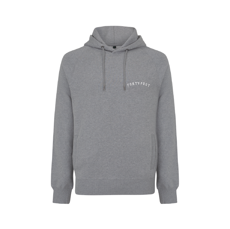 Forty Foot Hoodie | Grey Morning | Double-Print