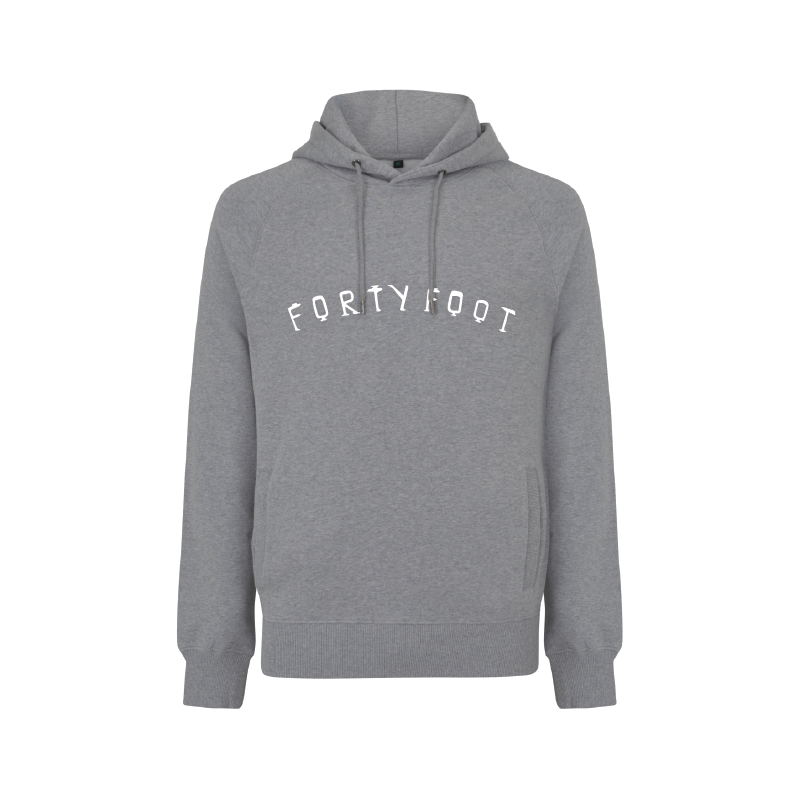 Forty Foot Hoodie | Grey Morning | Chest Print