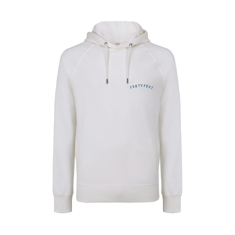 Forty Foot Hoodie | White Water | Double-Print