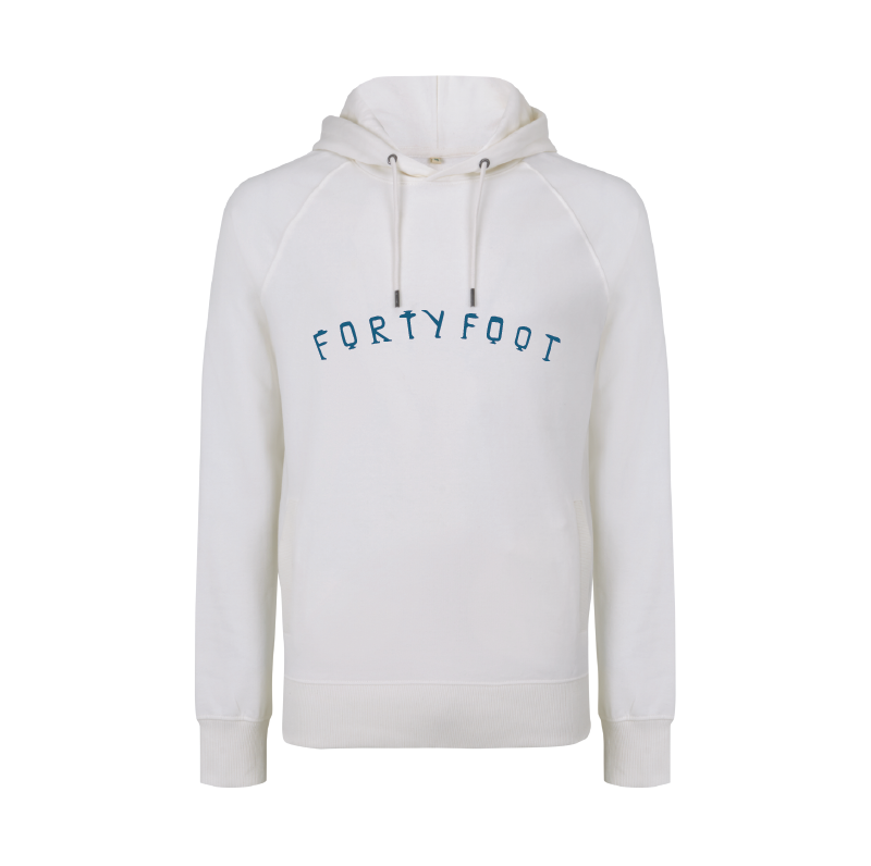 Forty Foot Hoodie | White Water | Chest Print