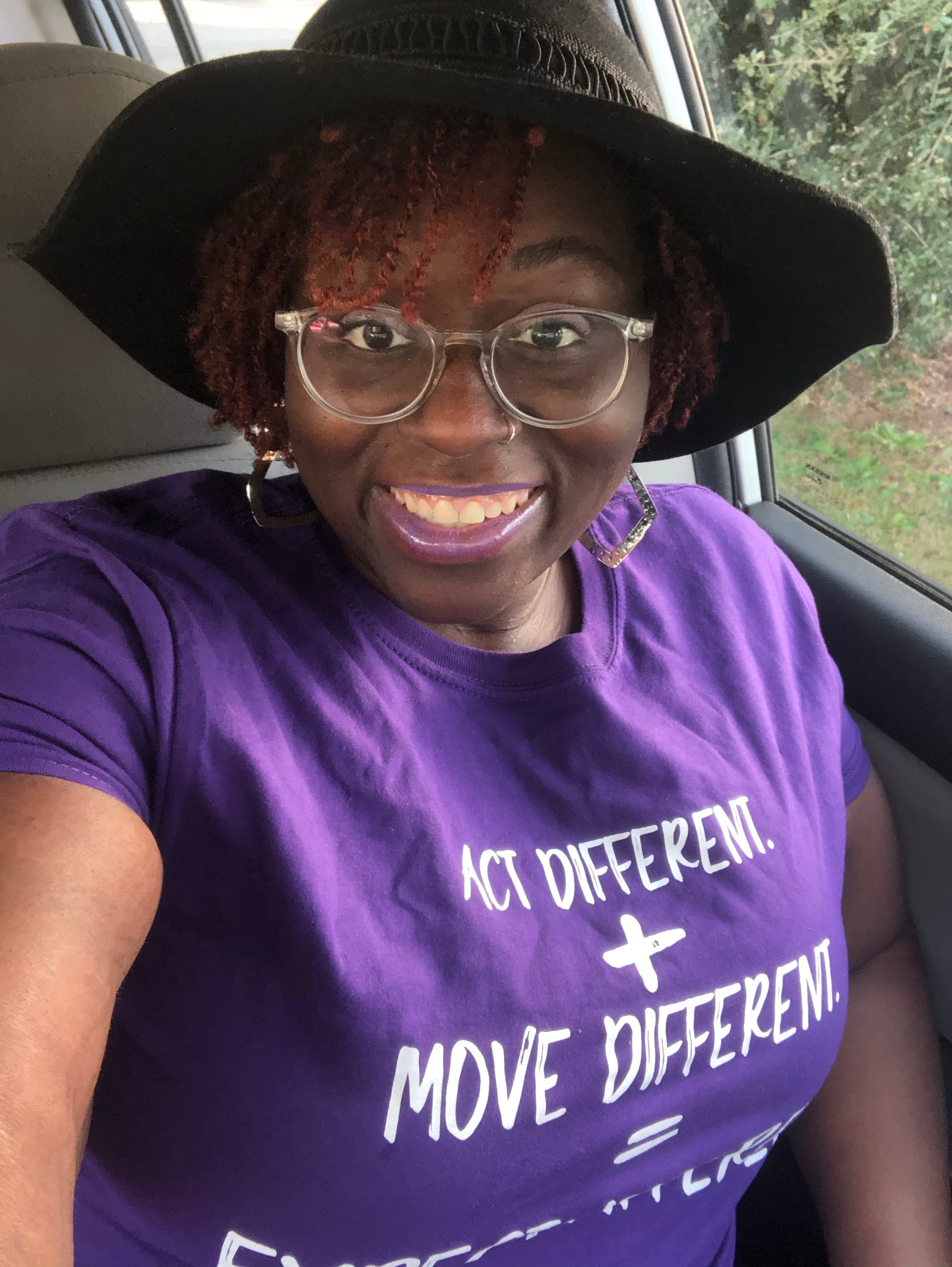 Act Different. + Move Different. = Expect Different. ™UNISEX Tee- Purple