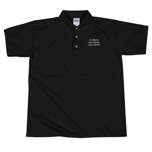 Open image in slideshow, Act Different. Move Different. Expect Different. Embroidered Polo Shirt