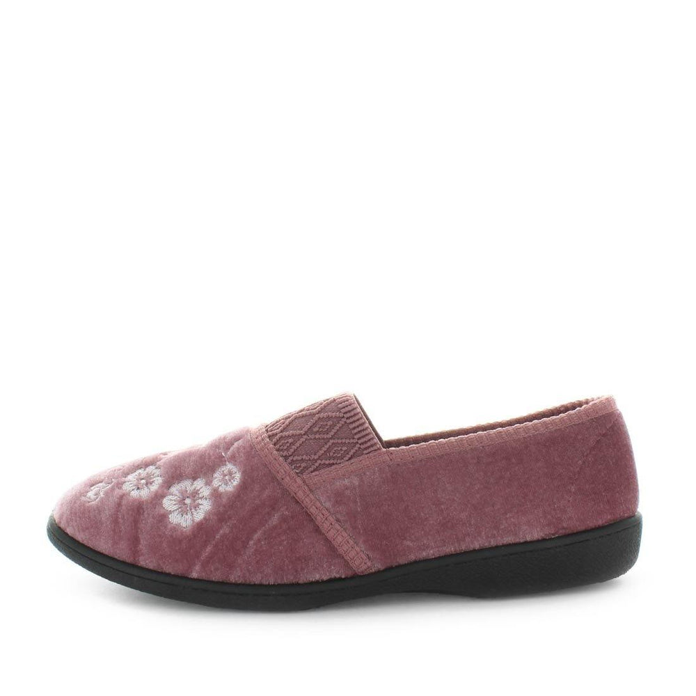 Elsah 3 by panda slippers - comfort steady womens slippers with floral printed deigned upper. comfort footbed and steady sole - womens slippers - indoor slippers - outdoor slippers - panda slippers