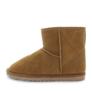 Just Bee UGGs- cutey- womens classic boot style slipper, 100% wool, leather shoe with detailed upper and over hanging wool on the trim - womens comfort slippers - womens best slippers- UGGs