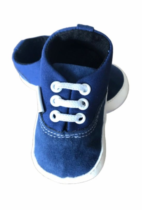 Blue Suede Two-Toned Pre-Walker Shoes