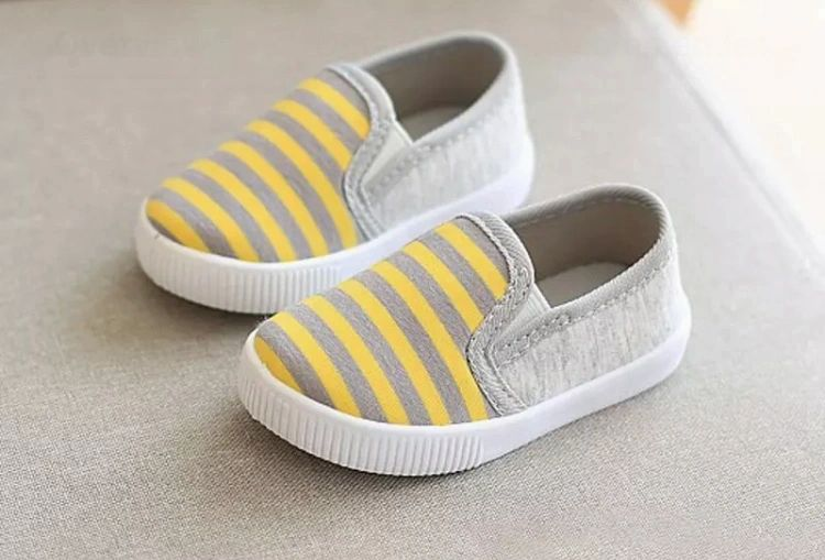 Yellow Striped Shoes