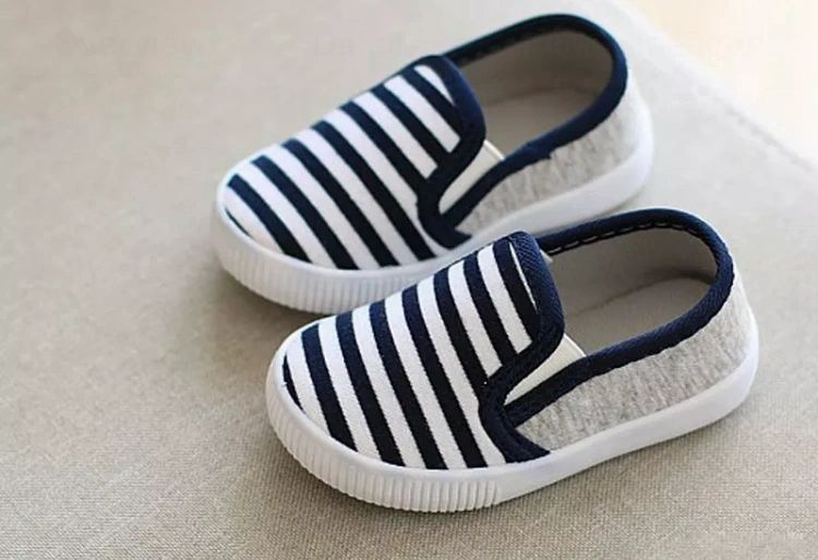 Blue Striped Shoes