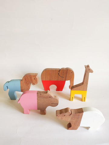 Wooden open ended Animal toy