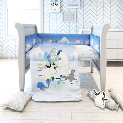 Fancy Fluff Cot Bedding Set - Arctic  ACharmedLife.in