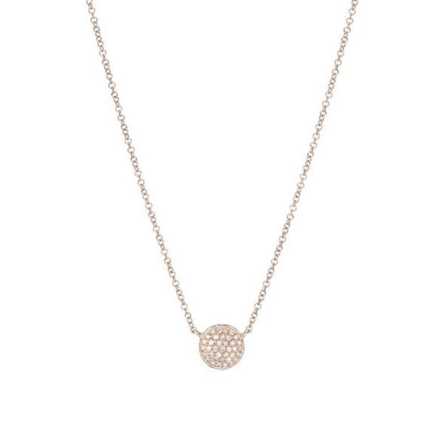Rose Gold Diamond Disk Necklace