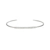 White Gold Bezel Diamond Push On Bangle