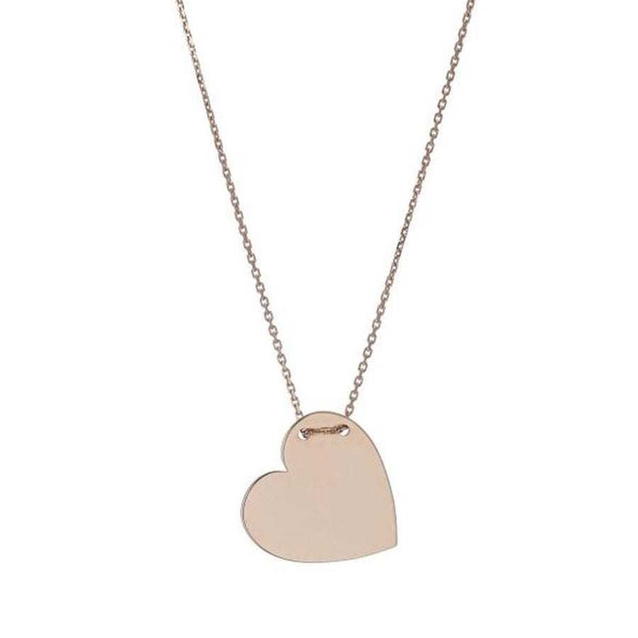 Rose Gold Engravable Heart Necklace