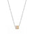 White Gold Triple Color Diamond Rondel Necklace