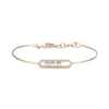 Rose Gold Diamond Oval Halo Bangle