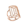 Rose Gold Geometric Diamond Cocktail Ring