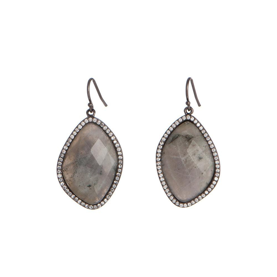 Silver Labradorite Drop Earrings