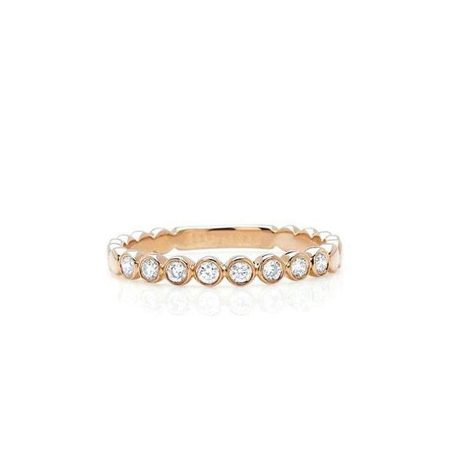 Silver Rose Plated Eternity Band