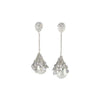Silver Chain Pearl Drop Earrings