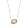 Gold Quartz Pendant Necklace