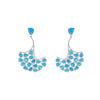 Silver Turquoise Statement Earrings