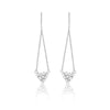 White Gold Diamond Rose Cut Drop Earrings
