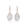 Rose Gold Diamond Slice Drop Earrings