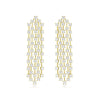 Yellow Gold Tassel Chandelier Earrings