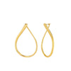 Large Yellow Oval Swirl Hoop Earrings