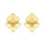 Yellow Double Square Stud Earring