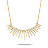 Yellow Gold Diamond Spike Bar Necklace