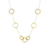 Yellow Gold Multi Circle Chain Necklace