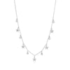 White Gold Diamond Star Choker Necklace