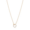 Rose Gold Mini Diamond Circle Necklace