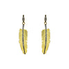 Black Gold Feather Drop Earrings