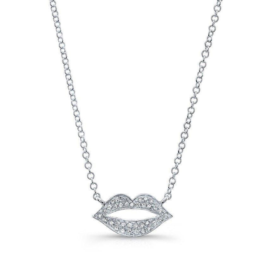 Rose Gold Diamond Lip Necklace