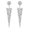 Silver Baguette Spike Earrings