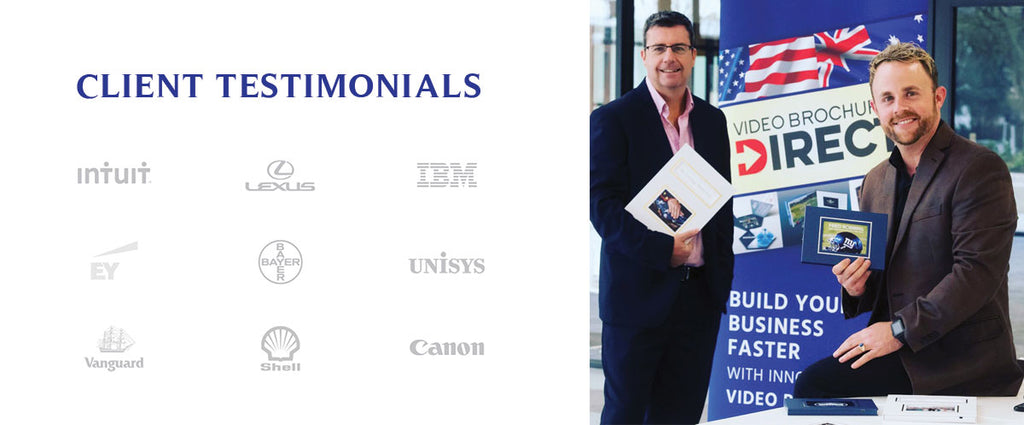 Link to Client Testimonials for Video Brochures Direct and Digi Photo Books