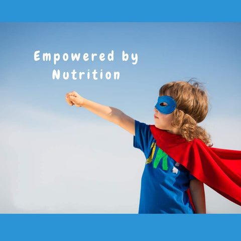 Empowered by Nutrition picture of child using simplespectrumsolutionssa product from simple spectrum supplement in South Africa