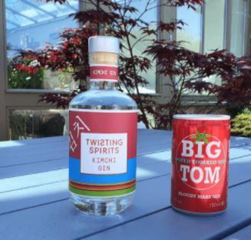 20cl Kimchi Gin from Twisting Spirits with FREE Big Tom Mixer