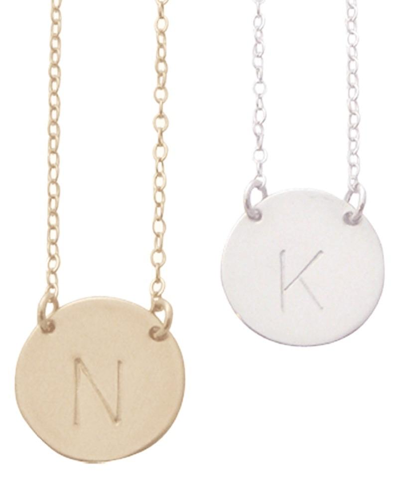 The Chloe by Misuzi - Classic Font - Large Initial Necklace