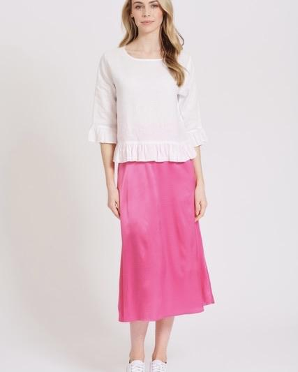 Silky Sundae Skirt in Bubblegum by Alessandra