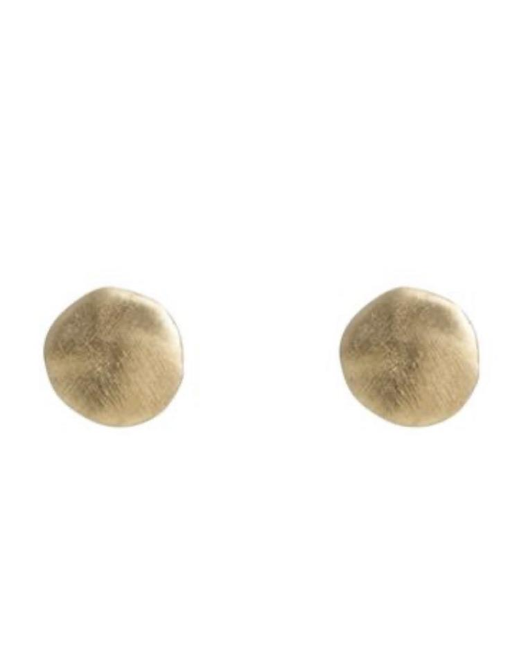 Gold Disc Studs by Fairley