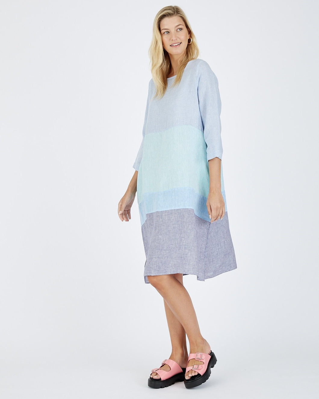 Rum and Raisin Dress in Blue by Alessandra